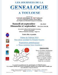 Généalogie Toulouse 2015