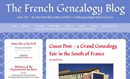 French Genealogy blog