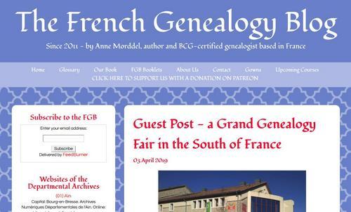 French Genealogy blog